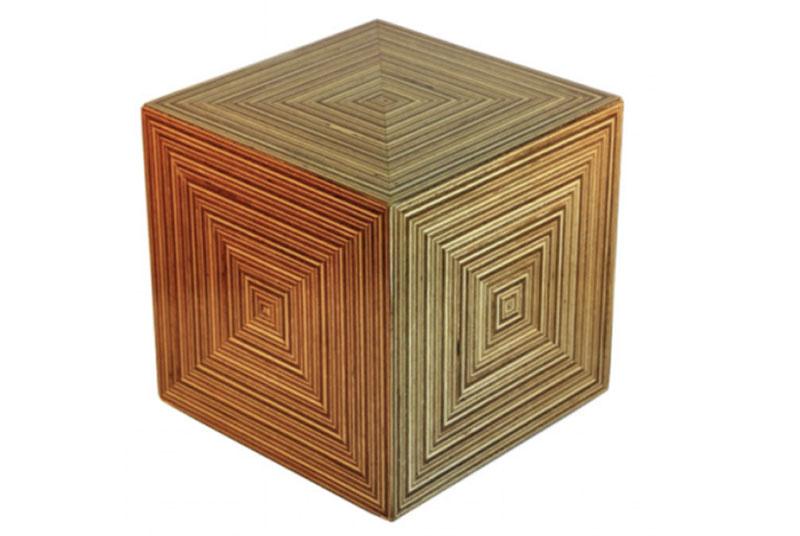 urne funeraire cube en bois