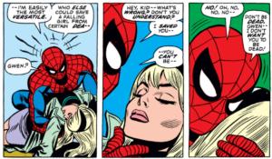 extrait du comics The Amazing Spider-Man - mort de Gwen Stacy