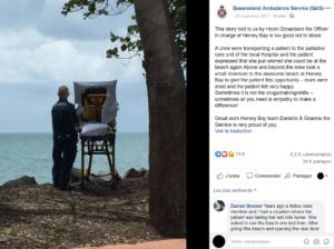 ambulancier-brancard-patient-ocean-facebook-Queensland-Ambulance-service-QAS