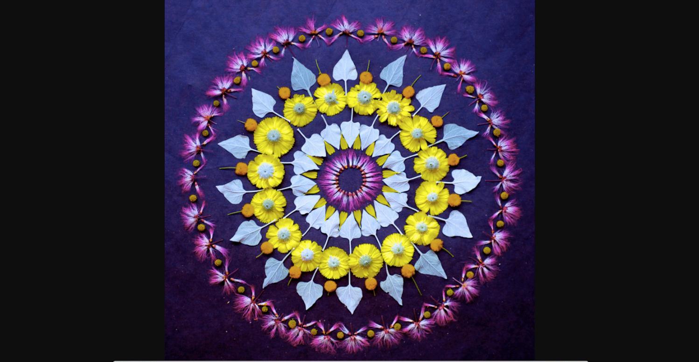 Mandala de fleurs Kathy Klein