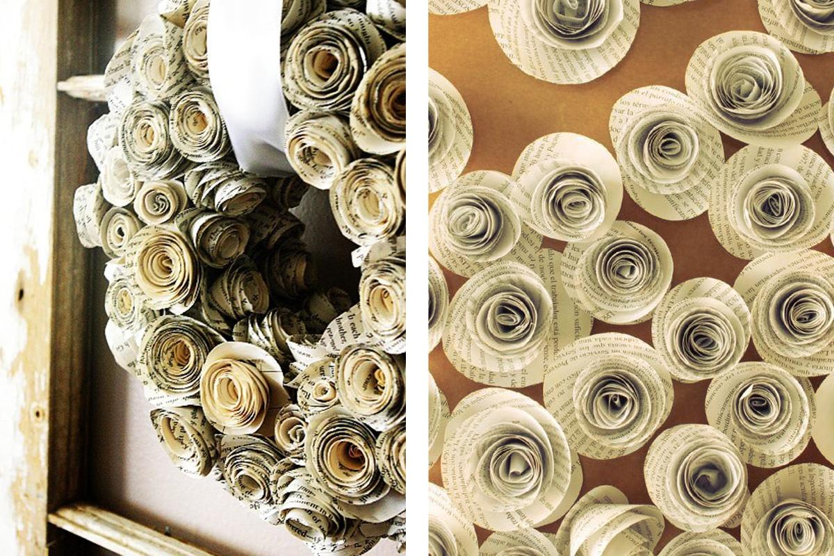fleurs papiers enterrement