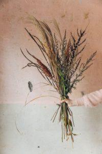 bouquet plantes séchées enterrement