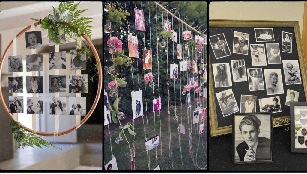 Photos obsèques défunt tableau souvenir